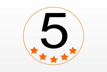 Danke für 5 Sterne!